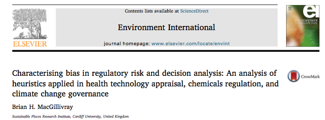 Characterising bias in regulatory risk and decision analysis