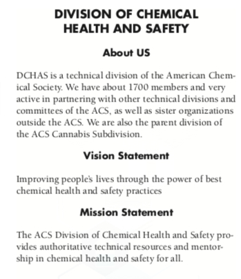 ACS Division of Chemical Health and Safety | Connecting