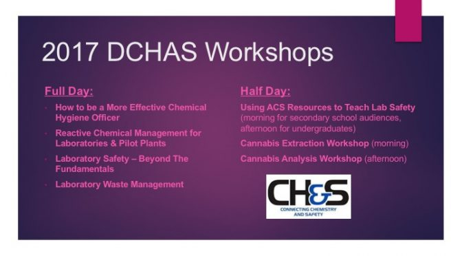 Chemical Health and Safety Workshops at DC National Meeting
