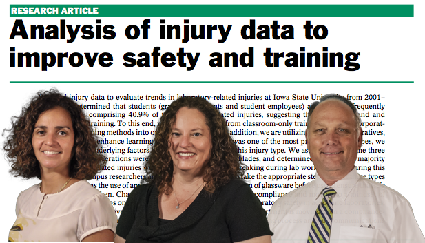 Analysis of injury data to improve safety and training
