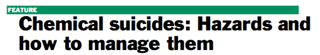 JCHAS Editor's Spotlight: Chemical suicides: Hazards and how to manage them