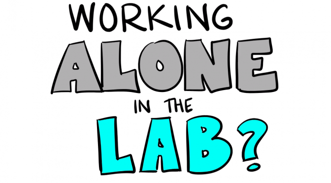 Working Alone in the Lab? Video Available