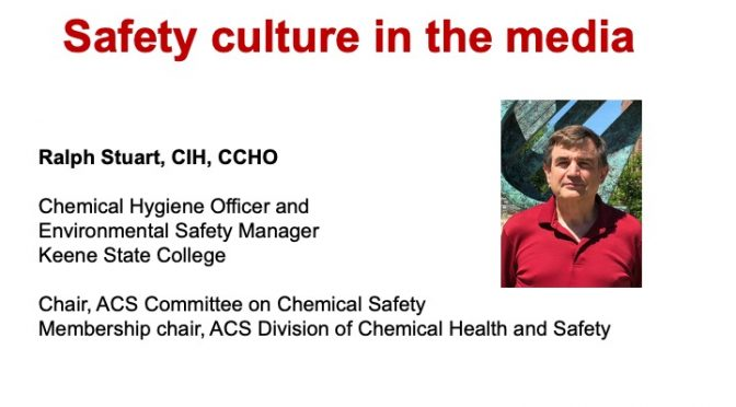 SAFETY CULTURE IN THE MEDIA, September 2020 CHAS Chat