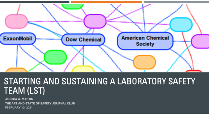 Starting and Sustaining a Laboratory Safety Team (LST): A CHAS DIscussion
