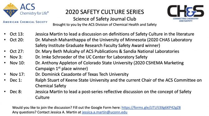 Exploring Definitions of Safety Culture: Safety Journal Club Discussion, OCT 13, 2020