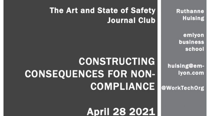 Constructing Consequences for non-compliance