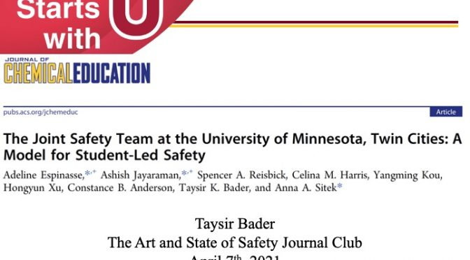 The Joint Safety Team at the University of Minnesota, Twin Cities: A Model for Student-Led Safety