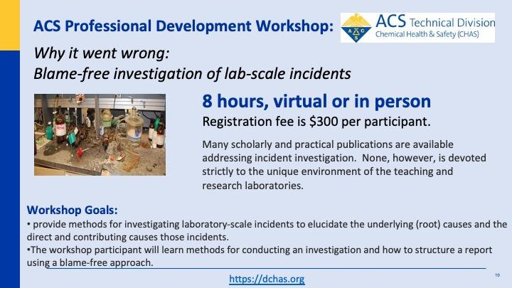 Lab scale incident investigation