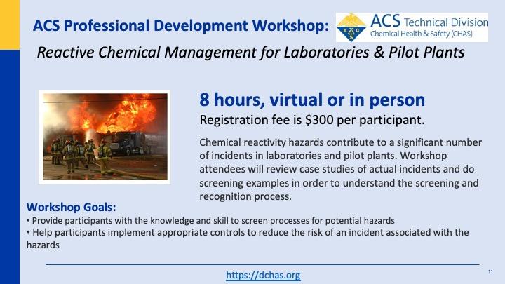 Reactive Chemicals Management