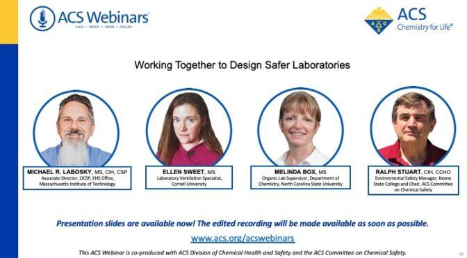 ACS Webinar: Working Together to Design Safer Laboratories