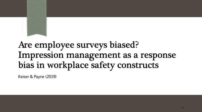 Are employee surveys biased? CHAS Journal club, Oct 13, 2021